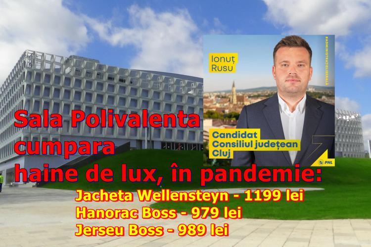 """REVOLTĂTOR! În pandemie, directorul PNL -ist al Sălii Polivalente Cluj """"sparge"""" banii PUBLICI, pe haine de lux, la cel mai scump magazin din Cluj"""