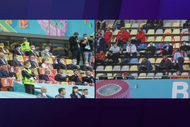 Reacția lui Hagi, după ce a primit bilet la tribuna a II-a, iar politicienii au stat la VIP. A fost lipsă de respect