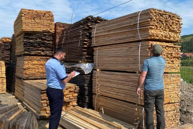 Cluj: Hoții de lemne lovesc din nou! Amenzi de mii de lei pentru transport ilegal de lemne- FOTO