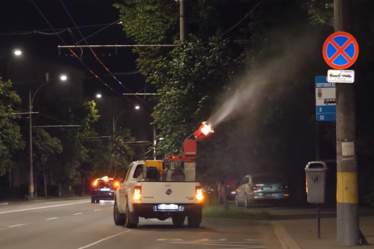 Dezinsecție pentru combaterea țânțarilor și larvelor în Cluj-Napoca - VIDEO