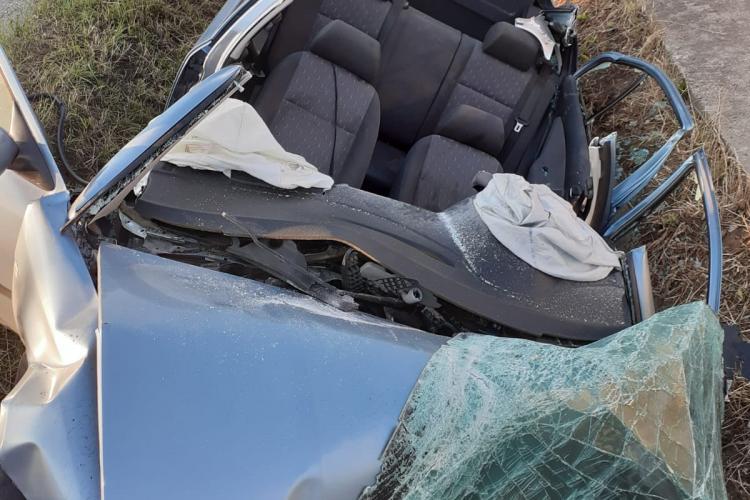 Accident MORTAL la ieșire din Dej - FOTO