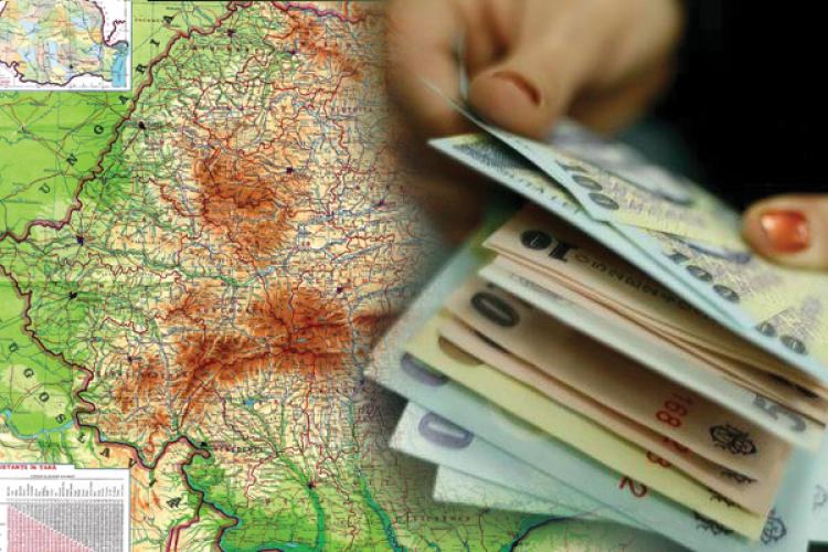 Județele cu cel mai mare venit din România. Pe ce loc este Clujul