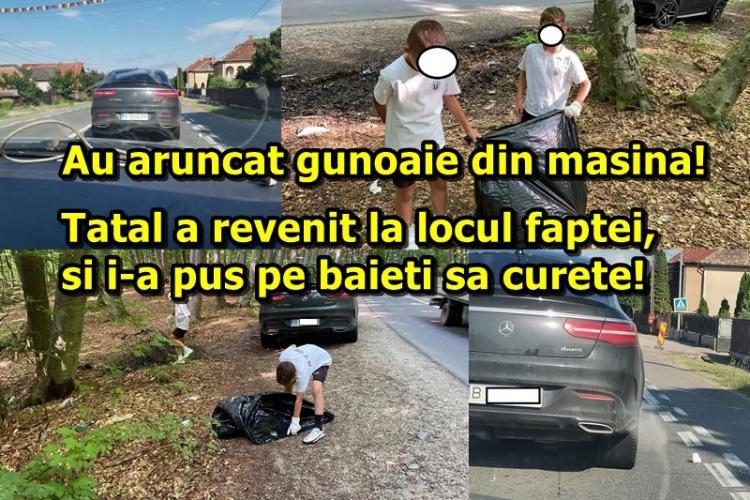"""Clujul e special! Așa se face educația! Copiii au aruncat pe geam paharele din """"Merțan"""", iar tatăl i-a pus să curețe - FOTO"""
