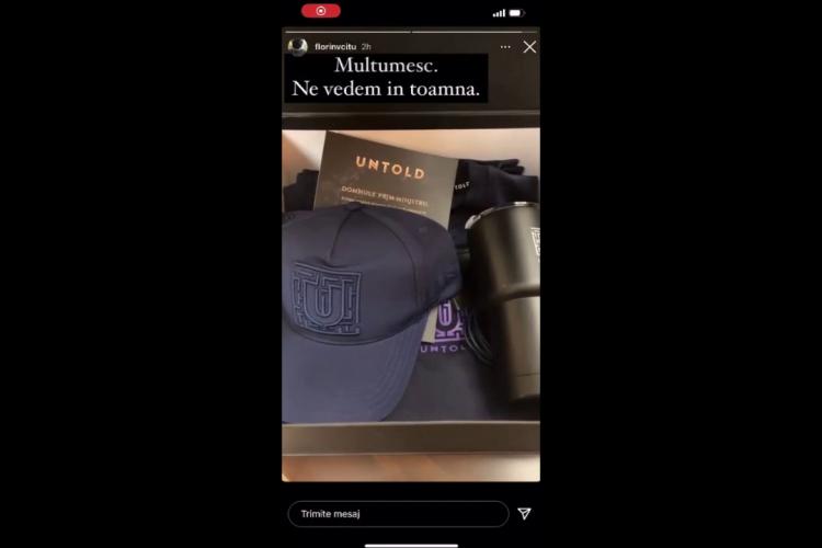 Premierul Florin Cîțu și-a pregătit kit-ul de Untold: Ne vedem la toamnă - VIDEO