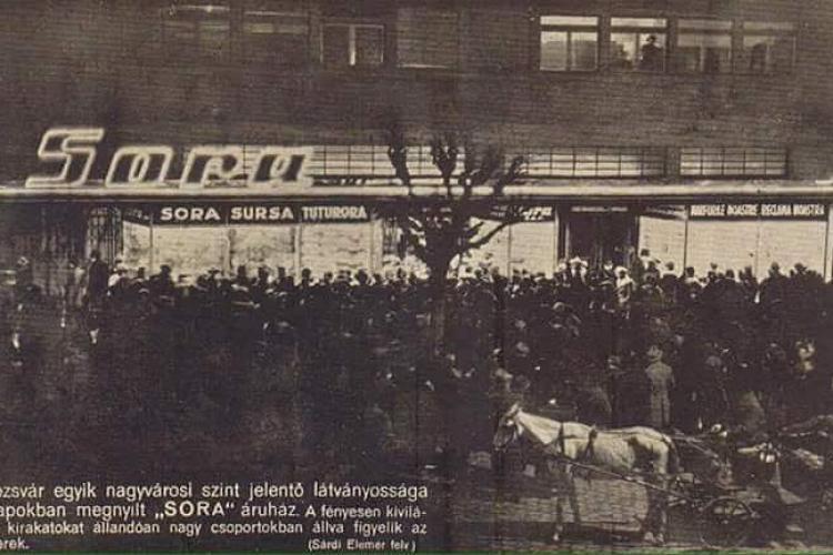 Deschiderea magazinului Sora, înainte de 1940 - FOTO