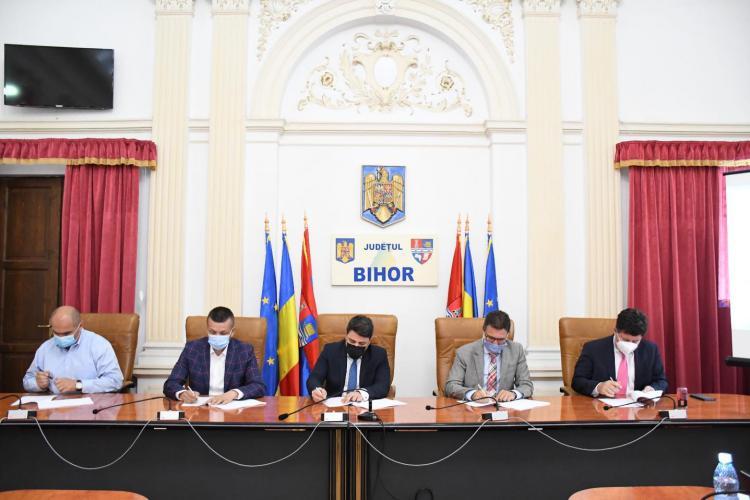 Bolojan a semnat pentru Oradea contractul pentru drumul expres Oradea - Arad! Alo, la Cluj se vede, se aude?
