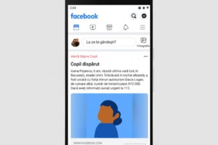 Un sistem de alertă Facebook va ajuta la localizarea copiilor dispăruți din România