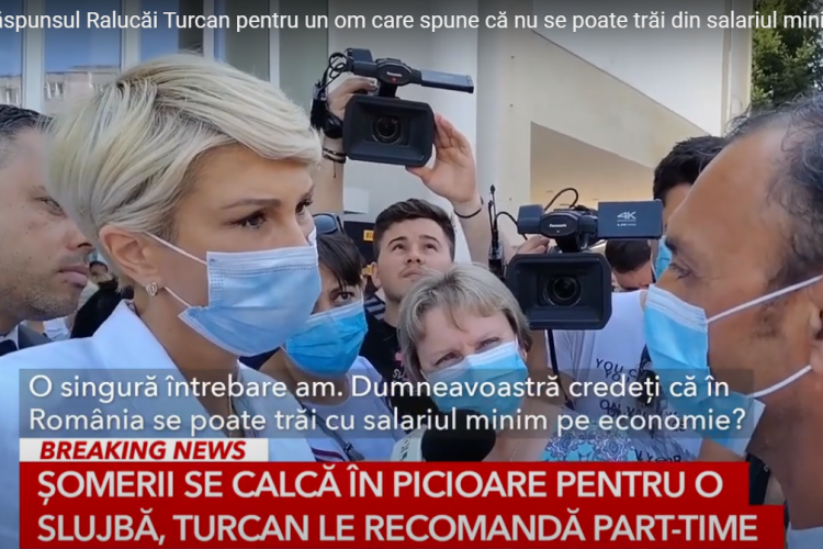 """Raluca Turcan, către un român care se plânge că nu se poate trăi din salariul minim: """"Să ne concentrăm şi pe part-time-uri"""""""