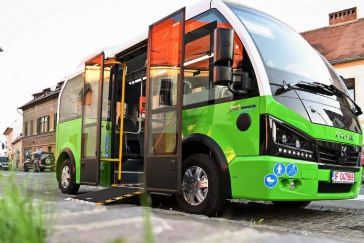 Cum arată microbuzele electrice ce vor străbate centrul istoric al Sibiului? - VIDEO