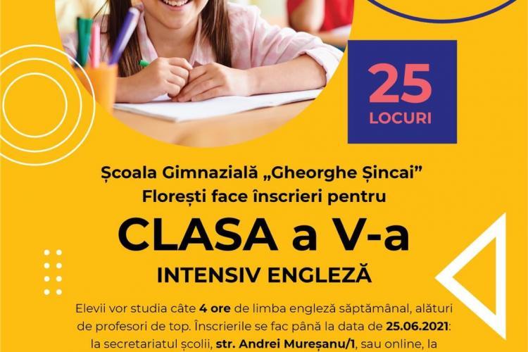 Floreștiul va avea o clasă cu predare intensiv engleză