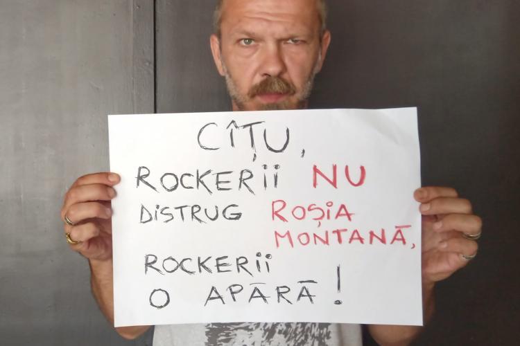Mesaj de la un rocker cunoscut din Cluj către premierul CÎȚU: Rockerii nu distrug Roșia Montană. Rockerii o apără! - FOTO