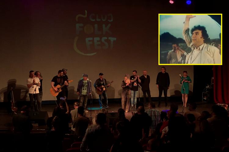"""Melodia """"Dor de Cluj"""" a închis prima ediție Cluj Folk Fest. Omagiu adus Clujului pe versurile marelui Adrian Păunescu  - VIDEO"""