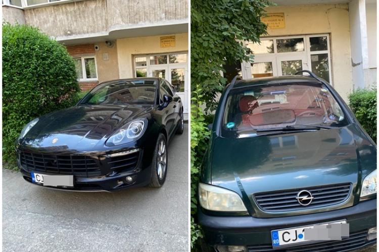 Bogații și săracii! Parcare de cocalar la Cluj, în ușa blocului: Dacă puteau, le urcau în dormitor - FOTO