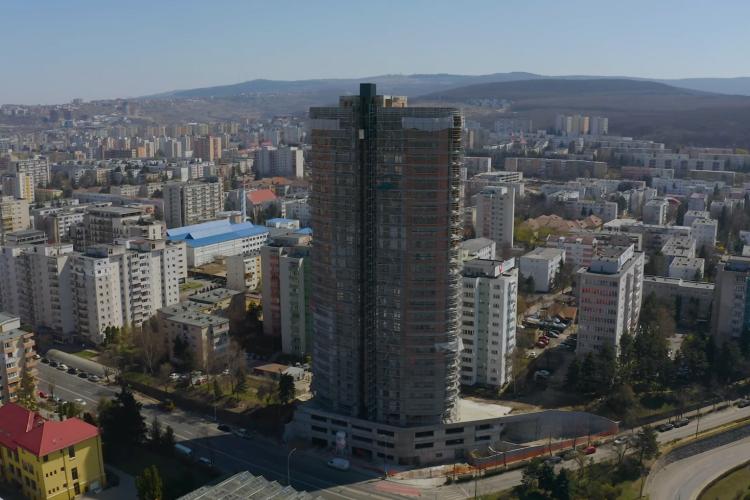"""Se vând SCUMP apartamente în turnul din Mănăștur: """"Calea Florești nu a fost pregătită pentru blocul acela"""" - FOTO"""