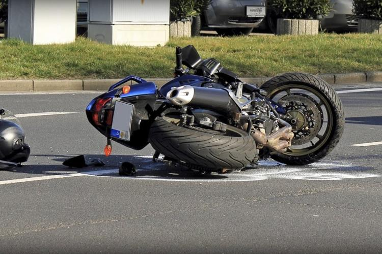 Accident grav de motocicletă în Turda - FOTO Șocantă