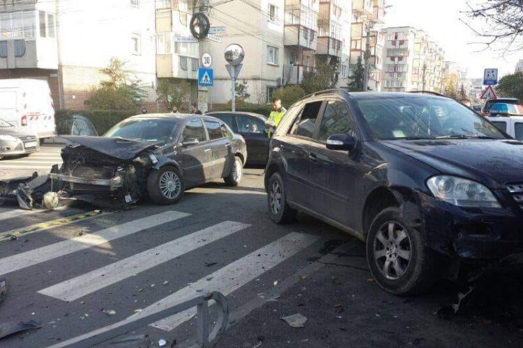 Nou accident în intersectia Scortarilor cu Gorunului, din Mărăști - FOTO