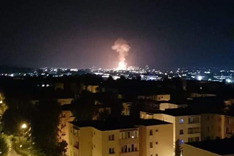 Explozie la Azomureș, la combinatul din Târgu Mureș. Imagini surprinse de cititori - VIDEO