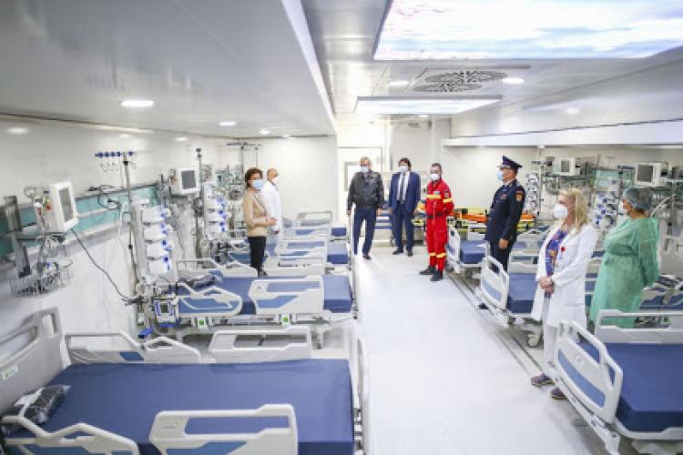 România are aproape 120.000 de paturi în spitalele publice și private finanțate de stat. Peste 6.000 de paturi la Cluj
