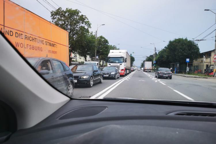 Traficul în Apahida a devenit un COȘMAR. Dimineața e teroare la dus, iar după-amiaza la întoarcere din Cluj-Napoca - VIDEO