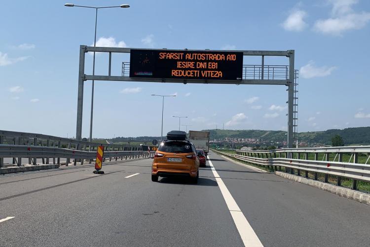 HAOS pe autostrada A10, la ieșire spre Aiud! Dacă ai intrat, cu greu mai ieși - FOTO