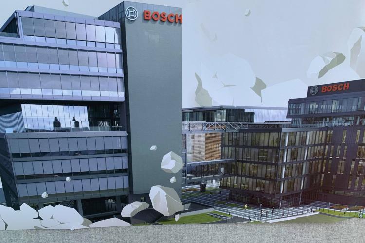 Bosch ridică încă o clădire de 10 etaje în Cluj-Napoca, pentru a atrage noi angajați - FOTO