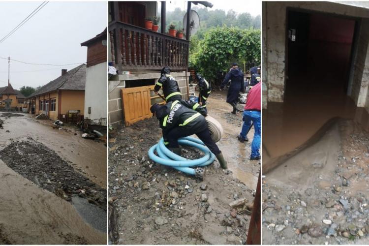 O nouă viitură a lovit localitatea Ocoliș. Gospodăriile care au fost curățate, din nou distruse - FOTO