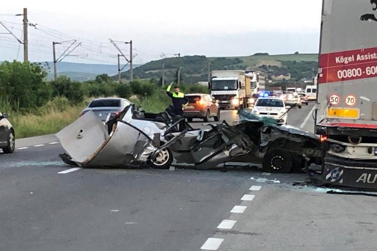 Accident MORTAL la Jucu. A murit o femeie din Cluj-Napoca - FOTO