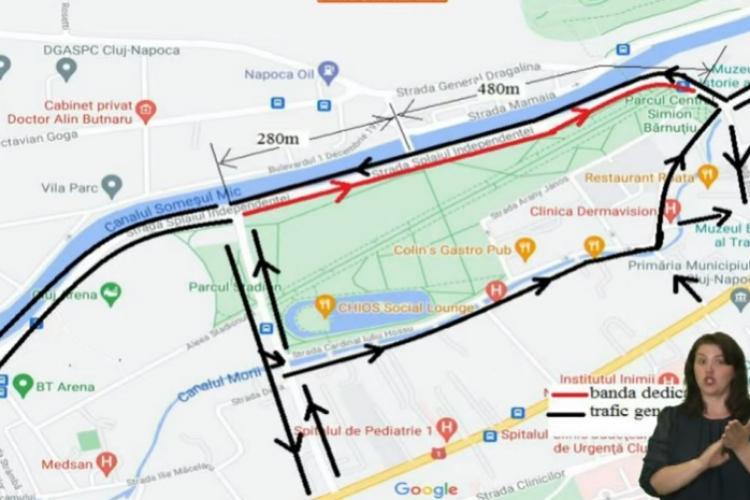 Bandă unică de transport pe Splaiul Independenței, din august. Boc: Clujenii pot utiliza mașina, dar noi avem priorități - VIDEO
