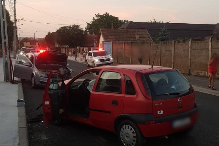 Accident în Câmpia Turzii, pe strada Aurel Vlaicu - FOTO
