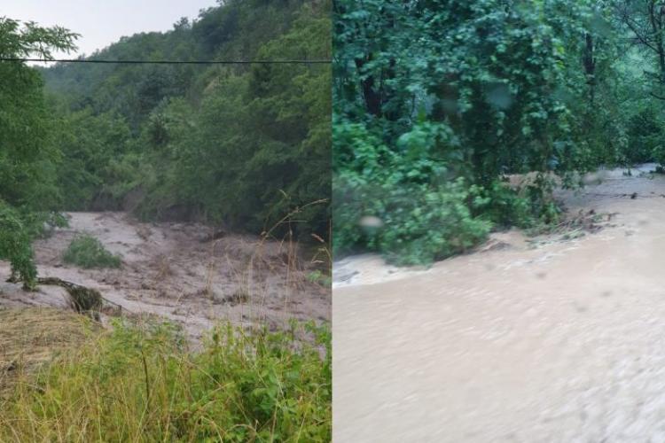 Case inundate, oameni refugiați în podurile caselor și drumuri distruse în mai multe localități din Apuseni