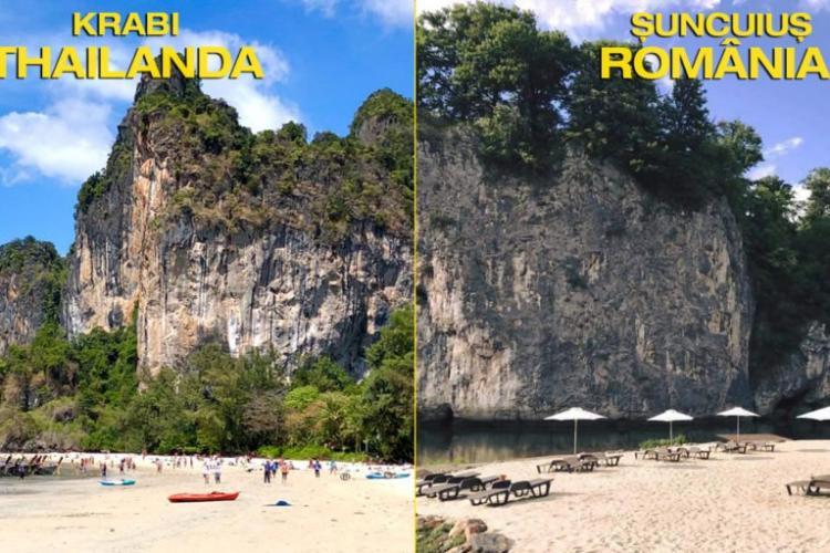 Plaja de la Șuncuiuș seamănă izbitor cu cea din Thailanda - FOTO