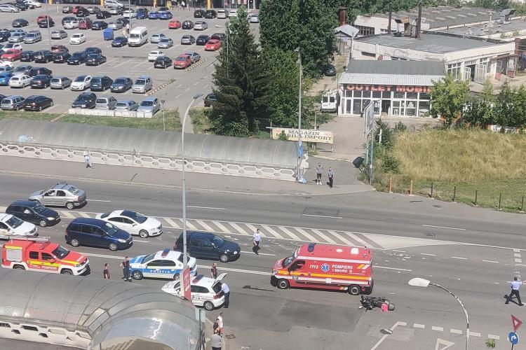Cluj: Accident rutier pe Calea Florești. Traficul este îngreunat - FOTO