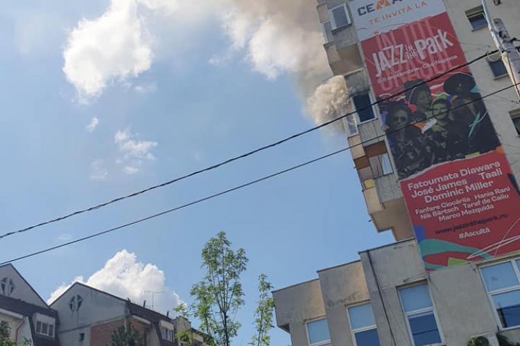 Canicula a declanșat incendiul în apartamentul din Zorilor, de pe strada Observatorului - VIDEO
