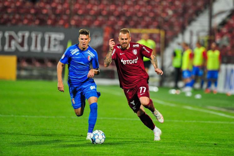 Alibec a adus victoria pentru CFR Cluj în meciul cu Chindia: CFR este cea mai mare echipă din țară