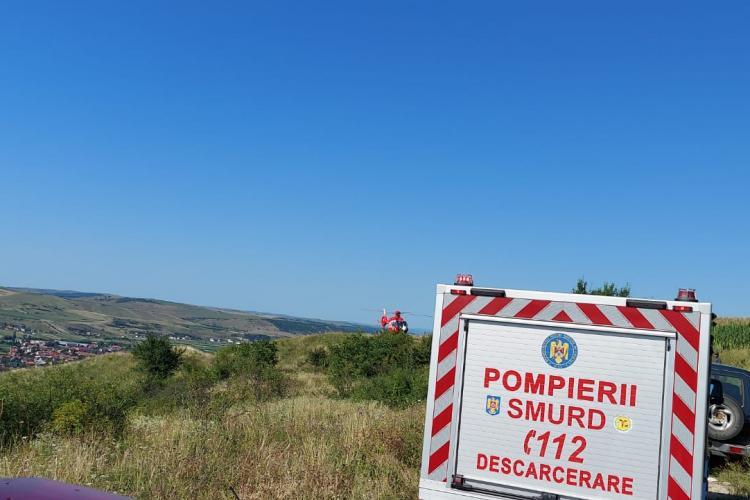 Cluj: Un parașutist a ratat aterizarea - FOTO