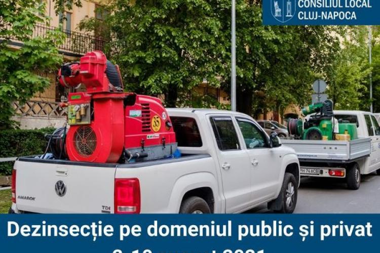 Dezinsecție în Cluj-Napoca în perioada 2 - 8 august