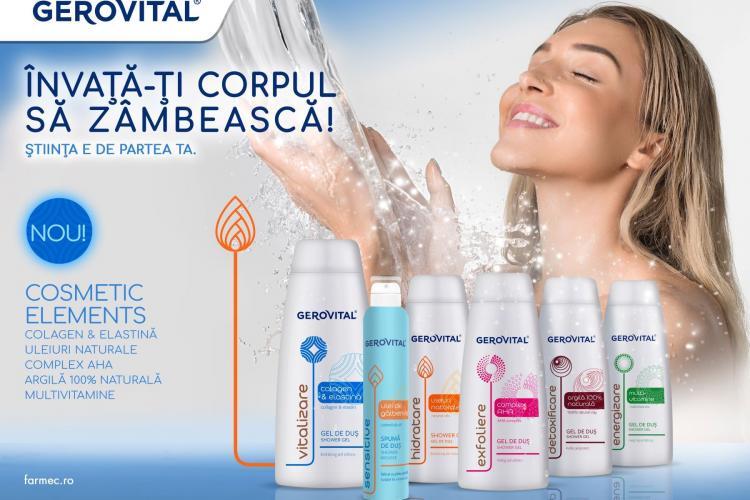 Farmec lansează o nouă gamă de geluri de duș Gerovital, cu formule complexe și beneficii inspirate din cosmetică