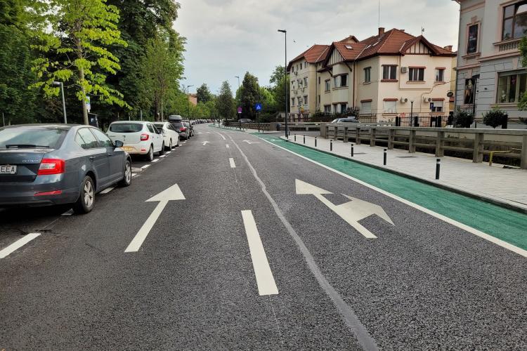 Cum arată strada Cardinal Iuliu Hossu, unde lucrările de asfaltare s-au terminat - FOTO