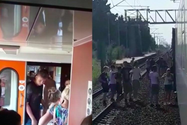 """Un tren cu copii care se întorceau de la mare a rămas blocat în câmp, mai mult de nouă ore: """"Copiii nu mai au apă, mâncare"""""""