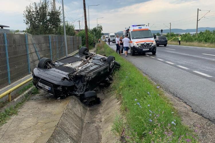 Cluj: Accident rutier cu victime luni dimineață - FOTO