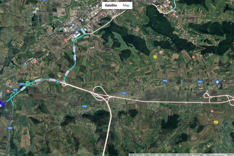 Se finalizează încă un ciot din Autostrada Transilvaniei. Este vorba de partea spre Mureș - FOTO