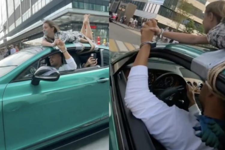 Un influencer și-a legat iubita pe mașină, i-a lipit bandă adezivă la gură și s-a plimbat cu ea pe străzi - FOTO