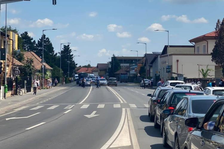 Bărbat din Florești, lovit de o mașină condusă de o femeie din Alba