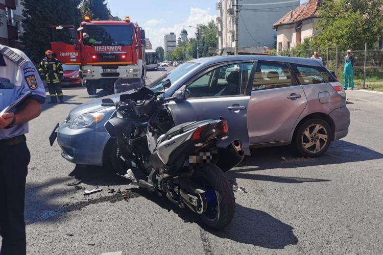 Cluj: Accident rutier pe strada Fântânele - FOTO