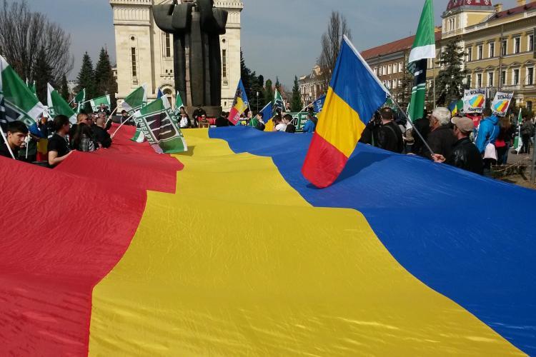 Cluj: Noua Dreaptă face miting și cere interzicerea marșului Gay Pride