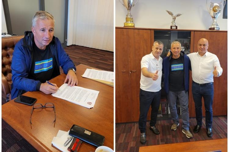 Fotografia cu Dan Petrescu, semnând contractul cu CFR Cluj. Daniel Metz: Hai CFR! - FOTO