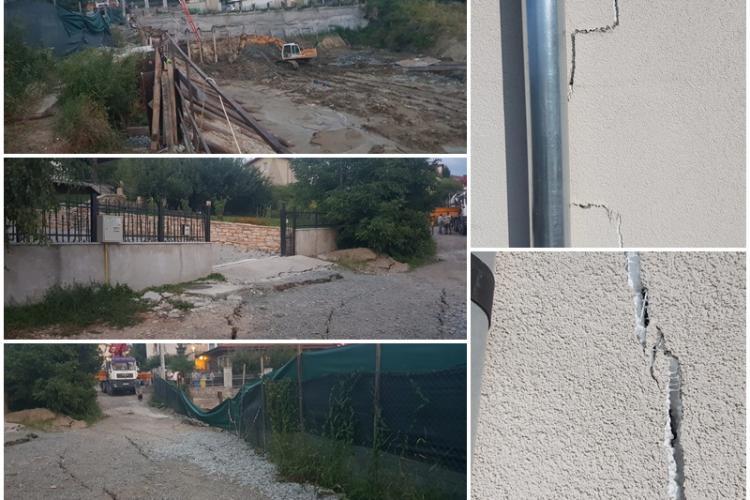 """Case crăpate în cartierul Europa și cu risc de surpare, lângă un nou proiect imobiliar din """"Frumosul"""" nostru Cluj - VIDEO și FOTO"""