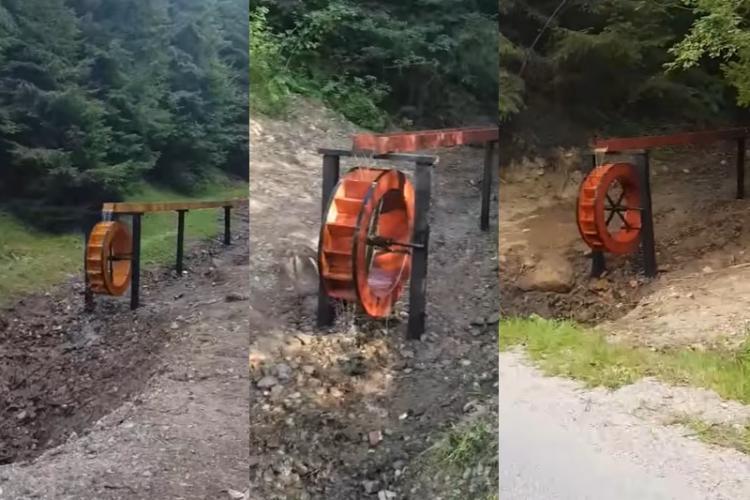 Clujul are personalitate! Mori de apă amenajate pe drumul care urcă spre Mărișel. Locuri perfecte pentru fotografii de colecție - VIDEO