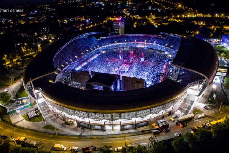 """Stadionul Cluj Arena, închiriat pe bani pentru UNTOLD 2021. Vor fi montate plăci """"heavy duty"""" și """"portafloor"""" pe gazon"""