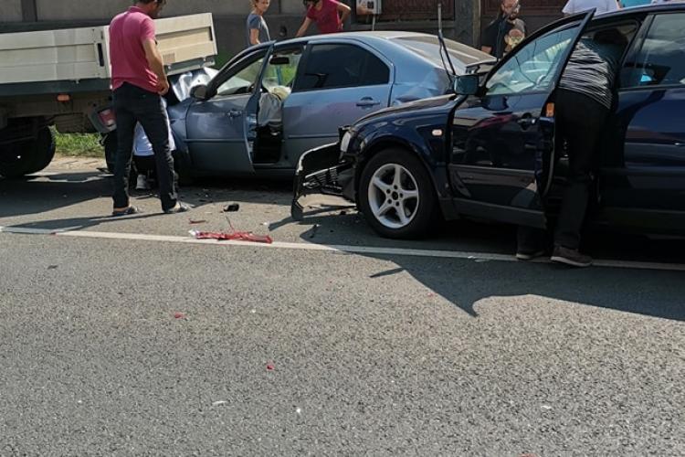 Două accidente în același timp în Rădaia, comuna Baciu - FOTO